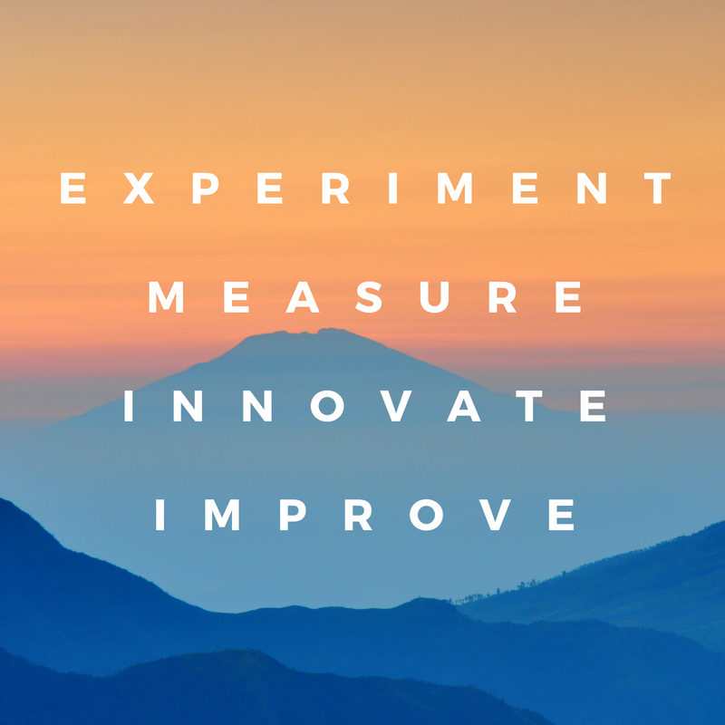 Experiment, measure, innovate & improve